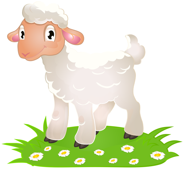 Clipart grass sheep. Easter lamb with png