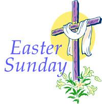Sunday schedule st monica. Clipart easter mass