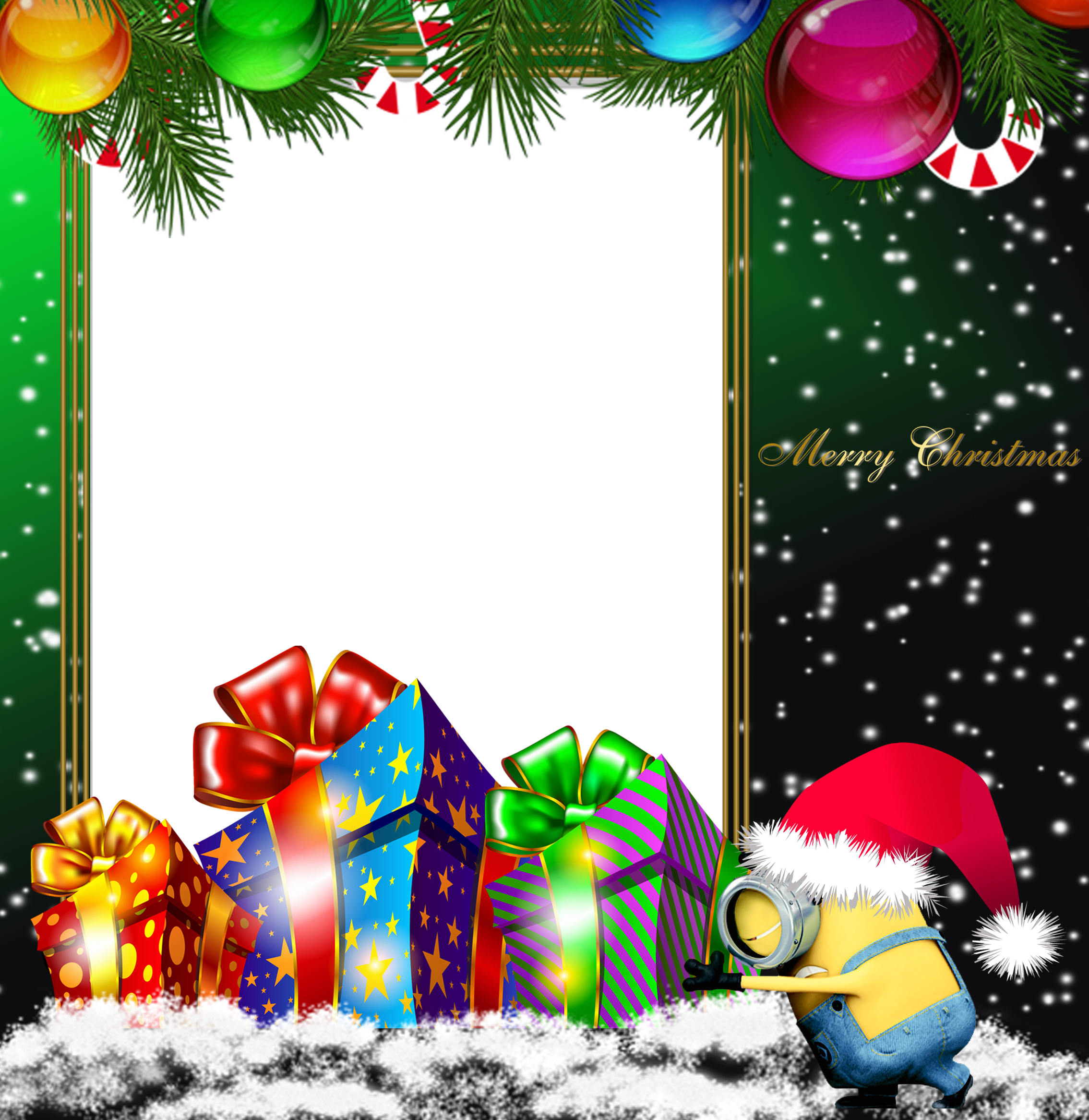 Merry christmas green png. Clipart easter minion