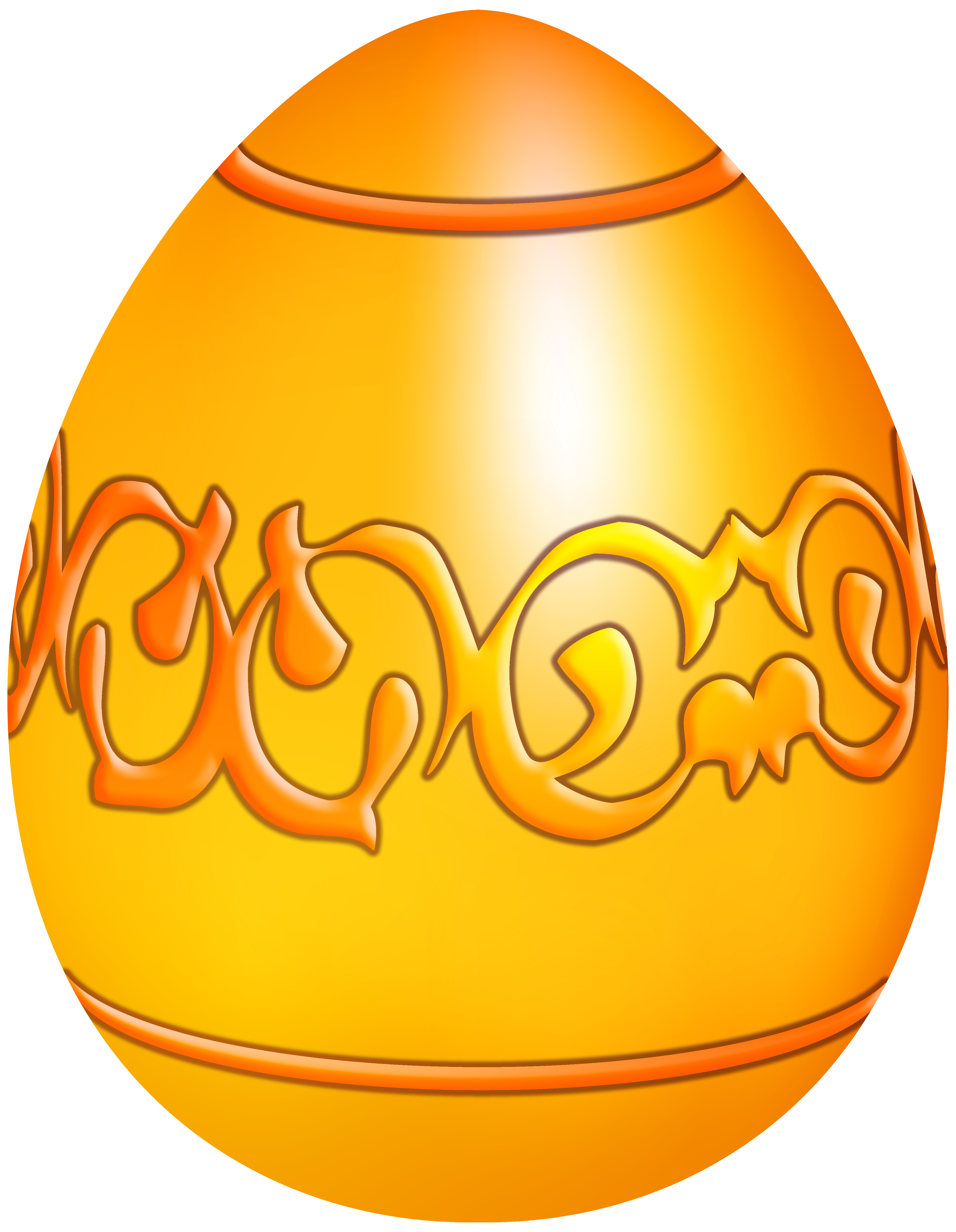 Yellow decorative egg png. Clipart hat easter
