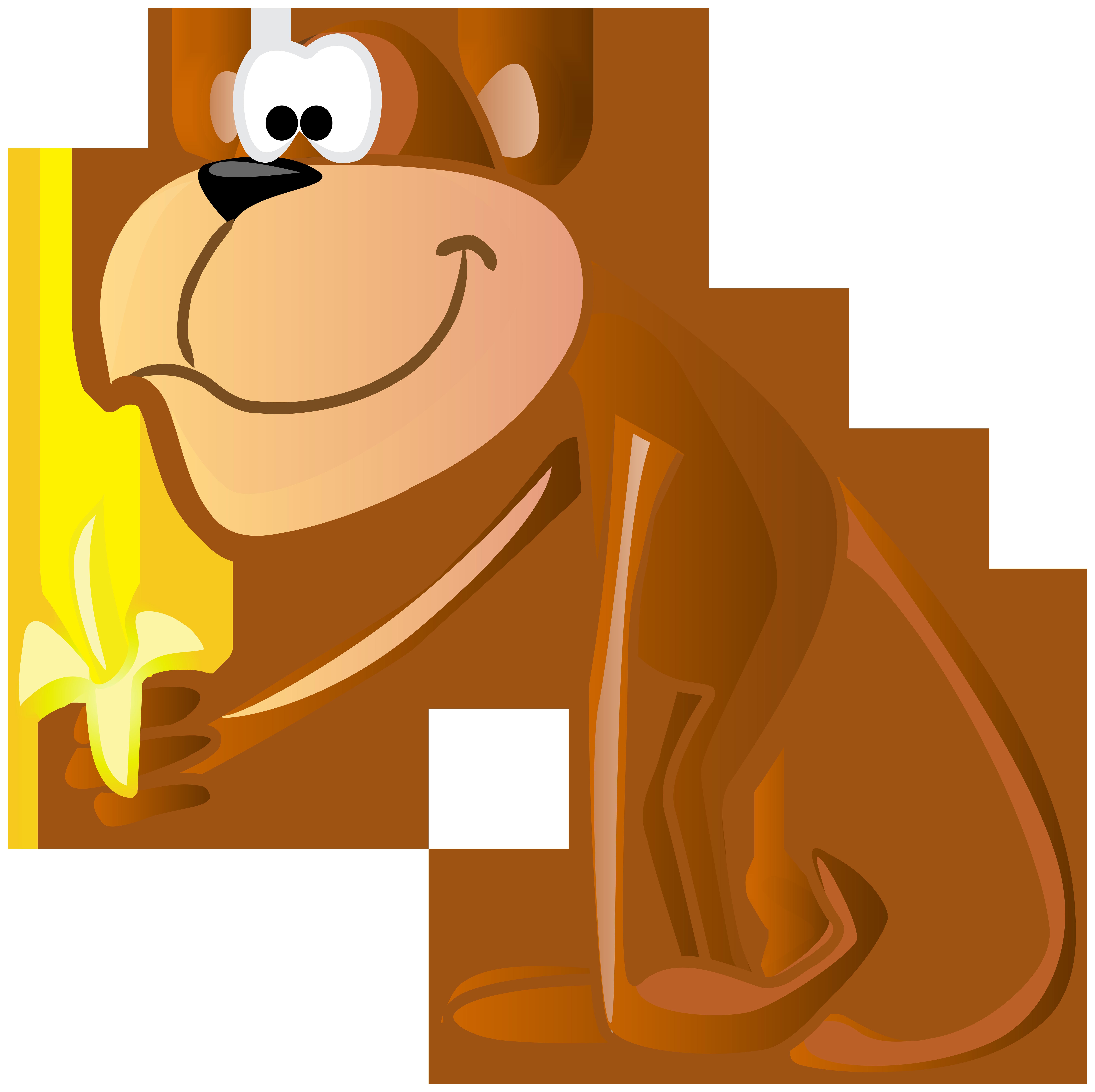 Cartoon clip art image. Valentine clipart monkey