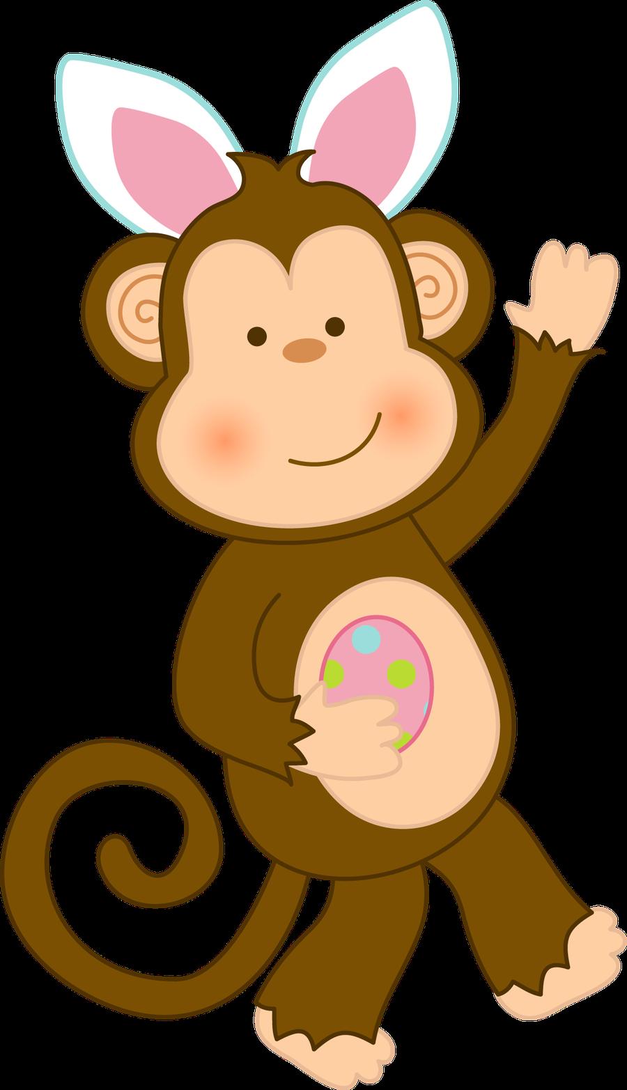 monkeys clipart easter
