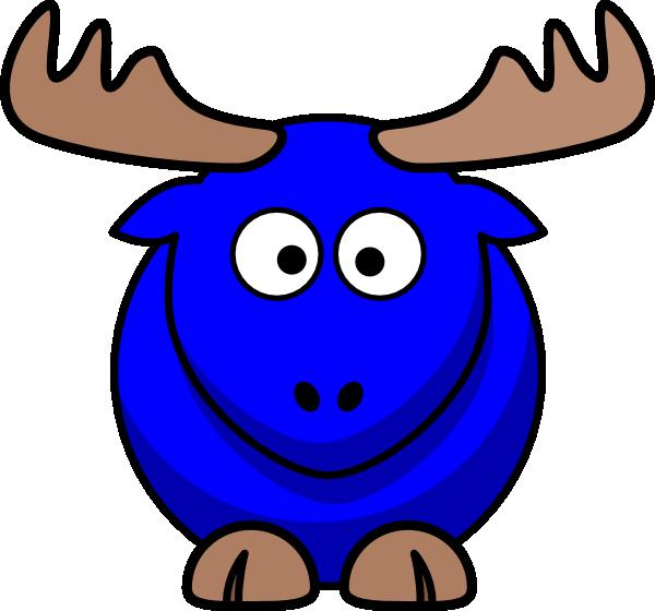 Blue cartoon clip art. Clipart easter moose