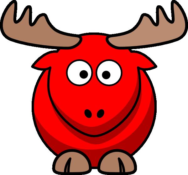 Red cartoon clip art. Clipart easter moose