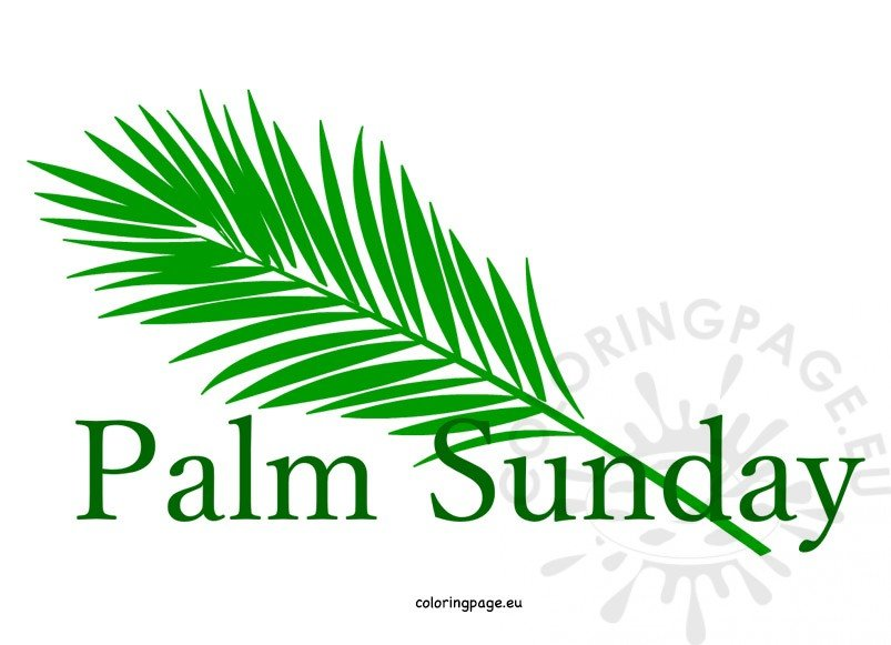 Palm clipart catholic. Easter sunday coloring page