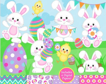 Etsy . Clipart easter paper
