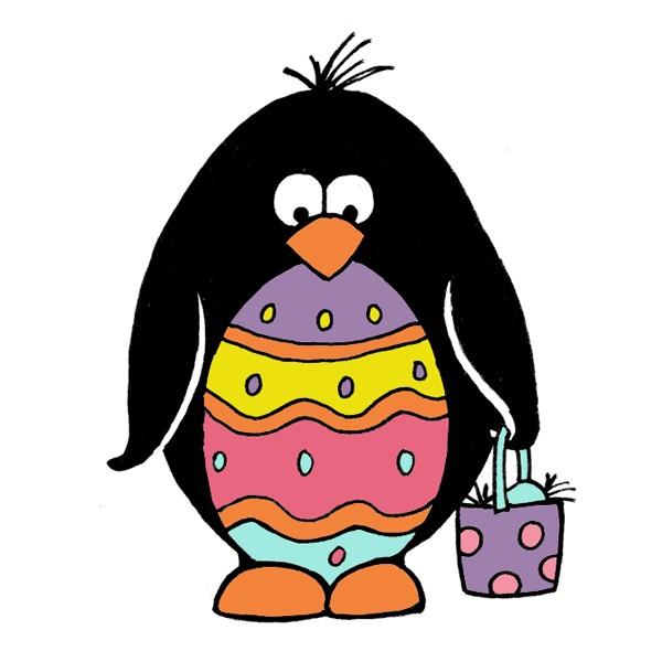 Clipart penquin easter. Penguin rubber stamp sku