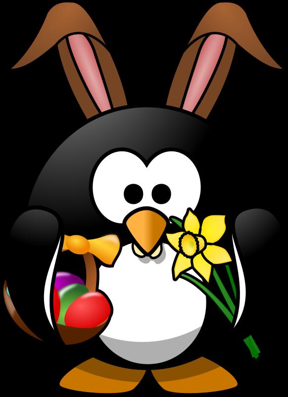 clipart penguin easter