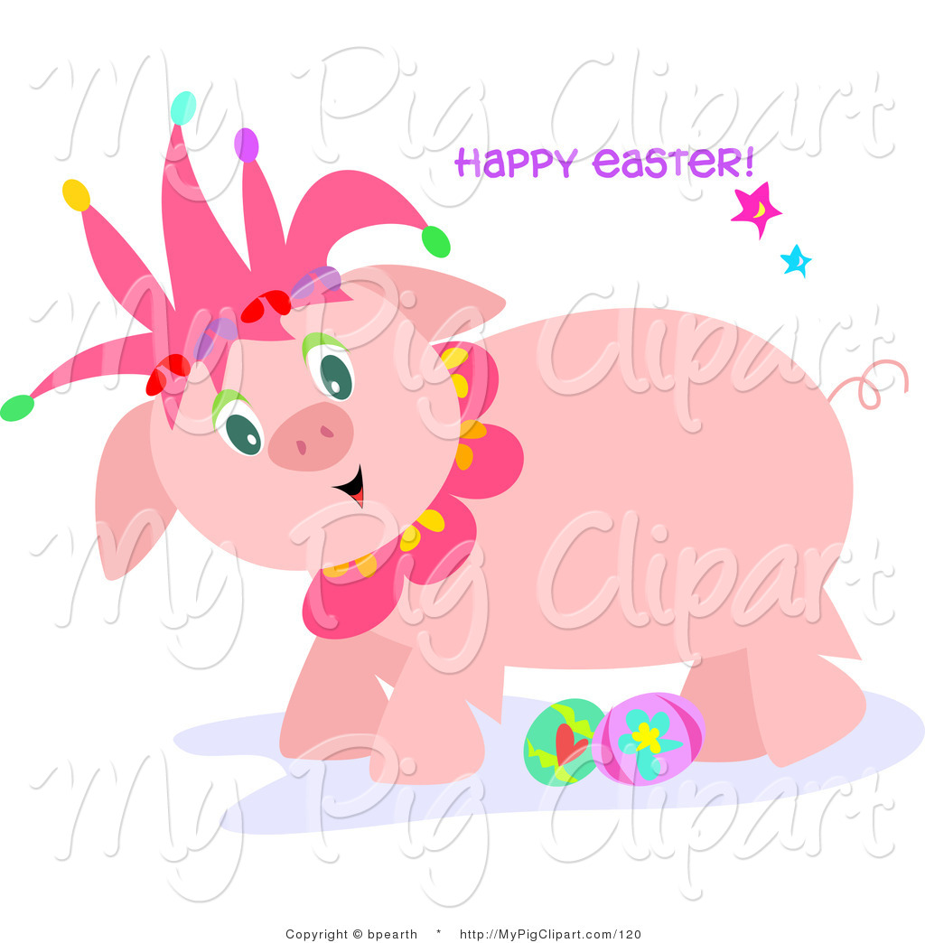 Pig clipart easter. Swine of a cute