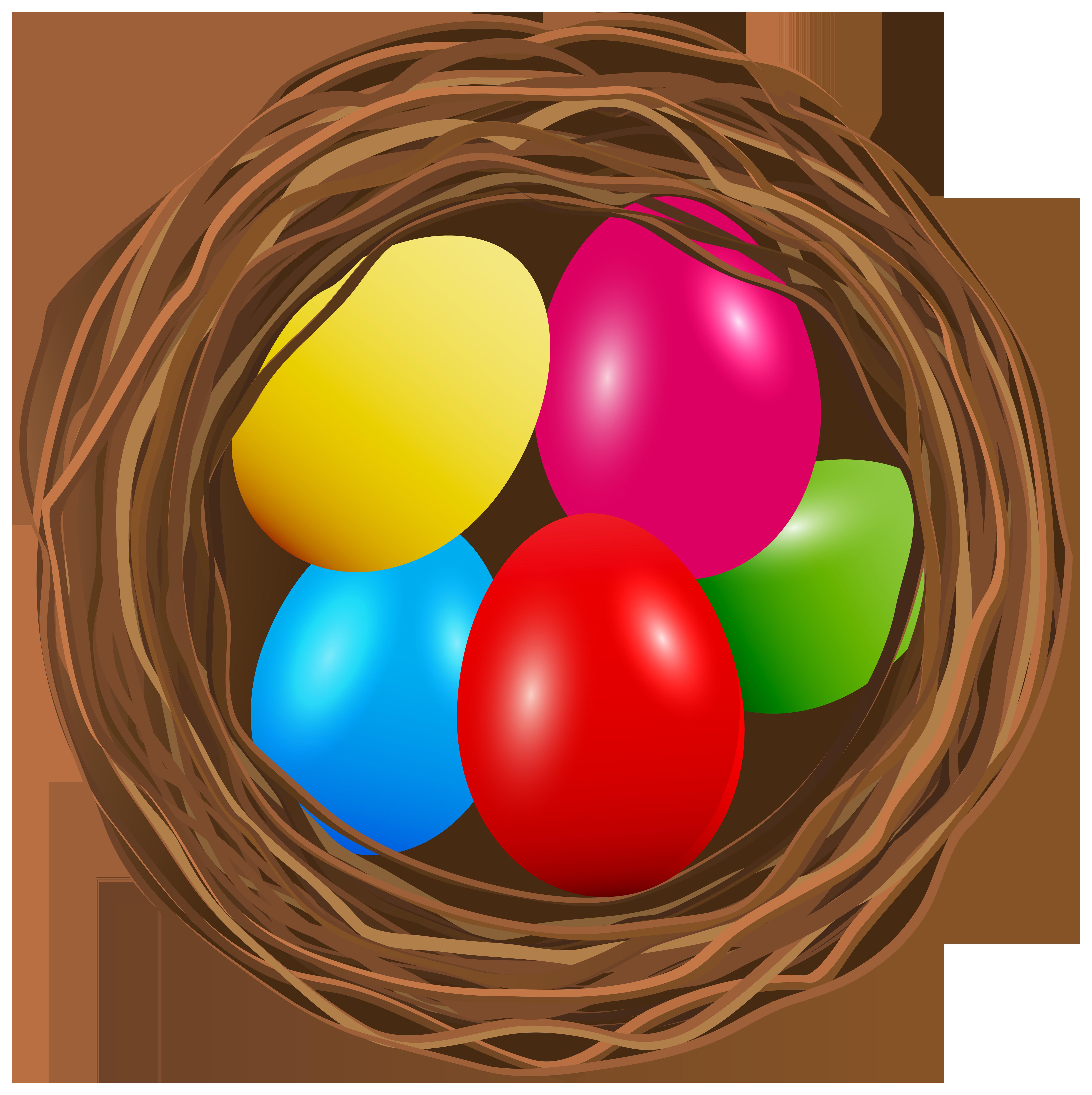 Nest clipart goose egg. Easter transparent png clip
