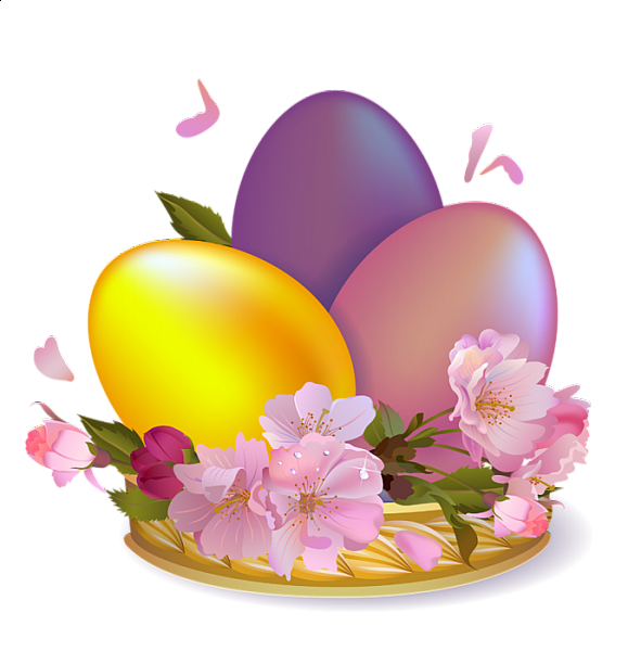 Clipart easter poem. Large beautiful eggs adorable