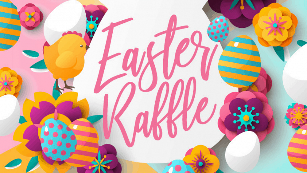 Raffle clipart easter. Week issue