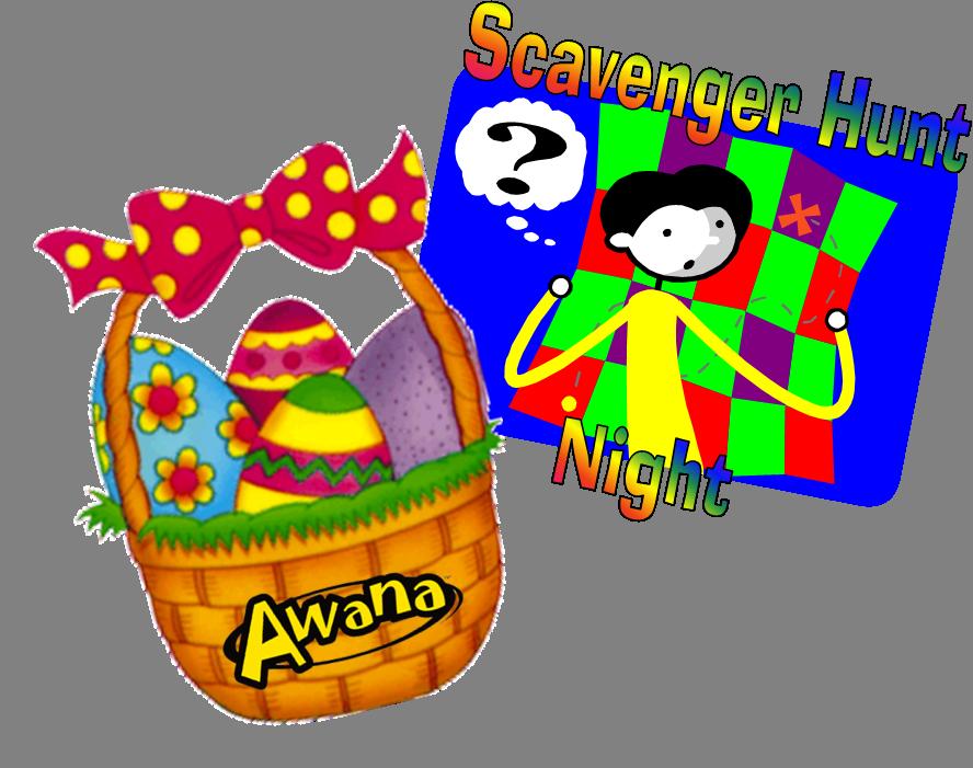 Awana egg night . Clipart easter scavenger hunt