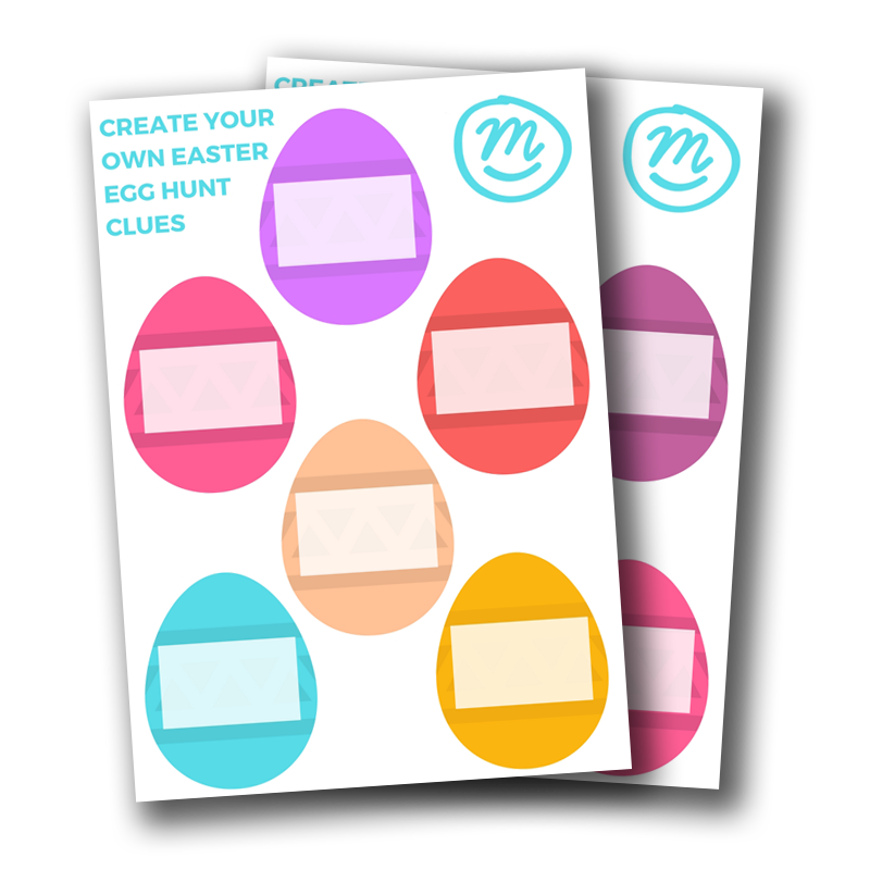 Make your own egg. Clipart easter scavenger hunt