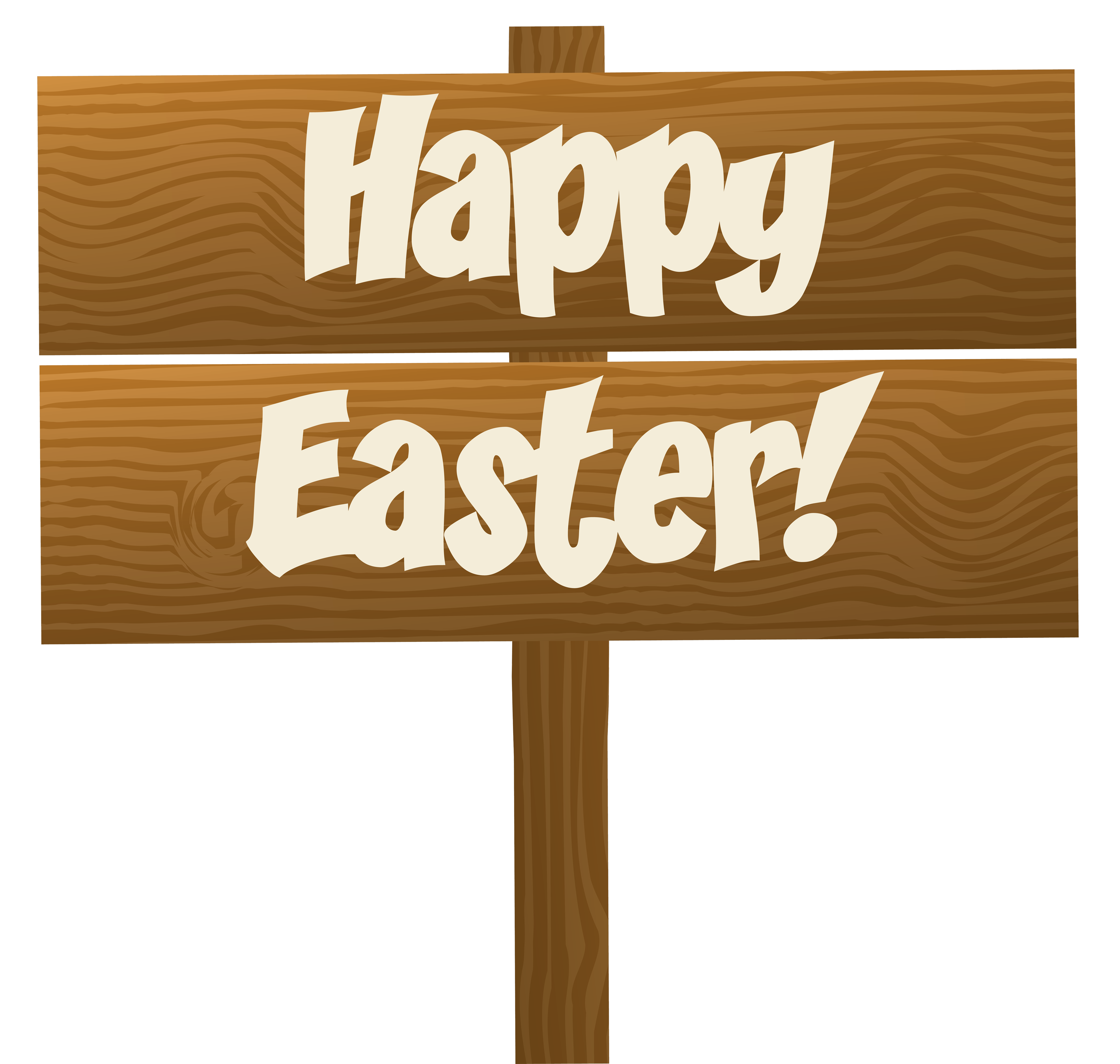 Clipart easter sign. Happy wooden transparent png