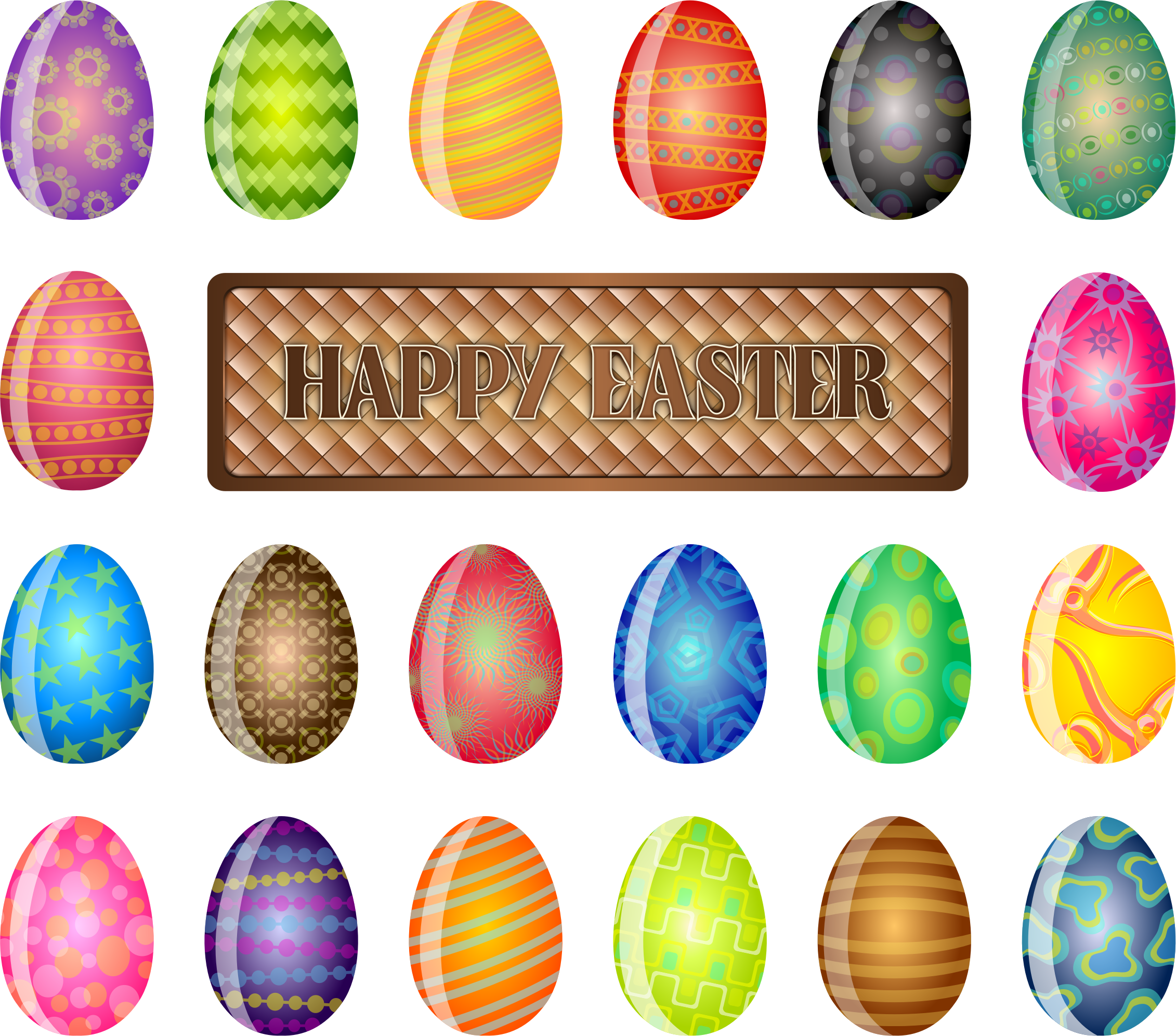 Clipart easter sign. Happy big image png