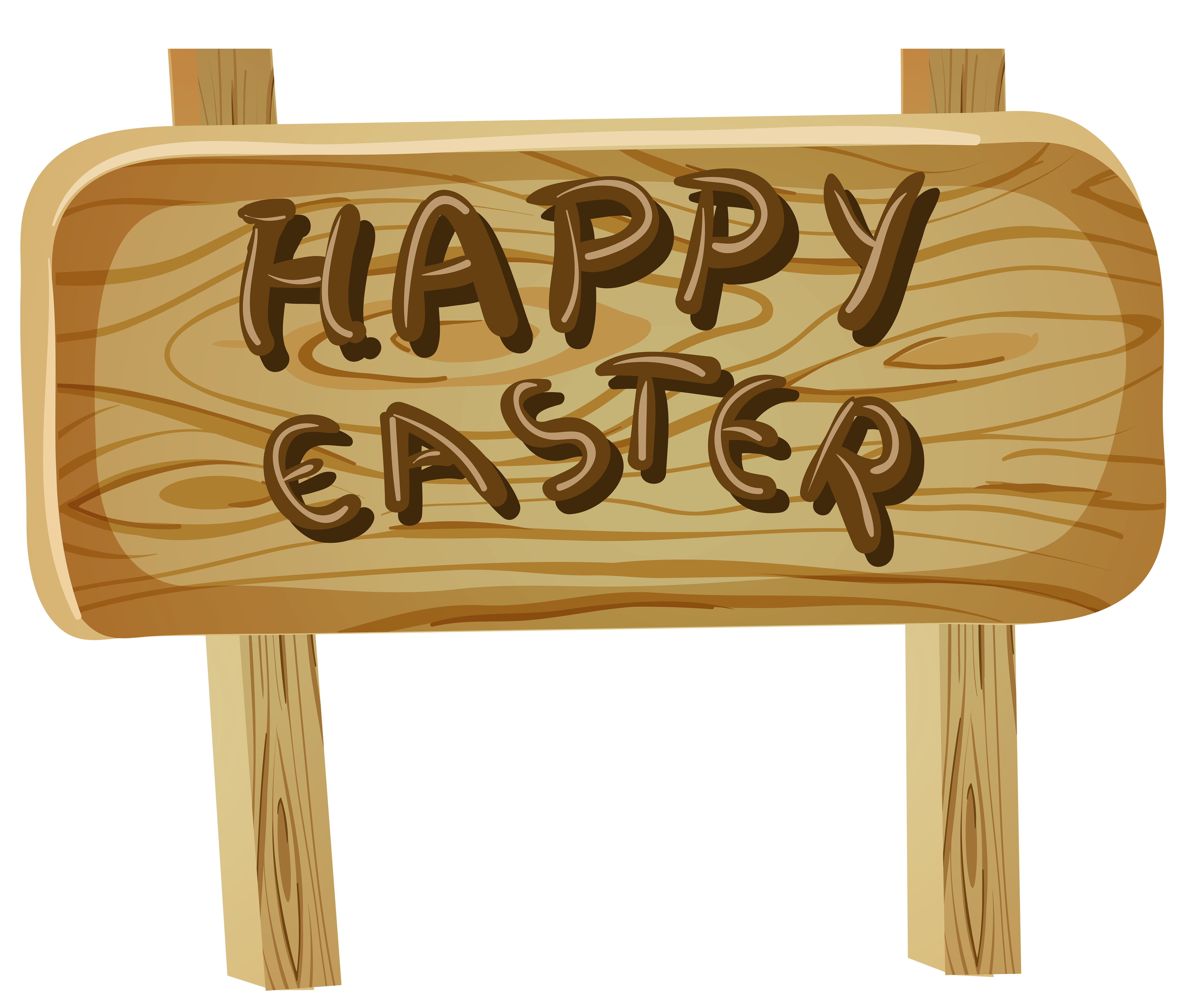 Clipart easter sign. Happy png clip art