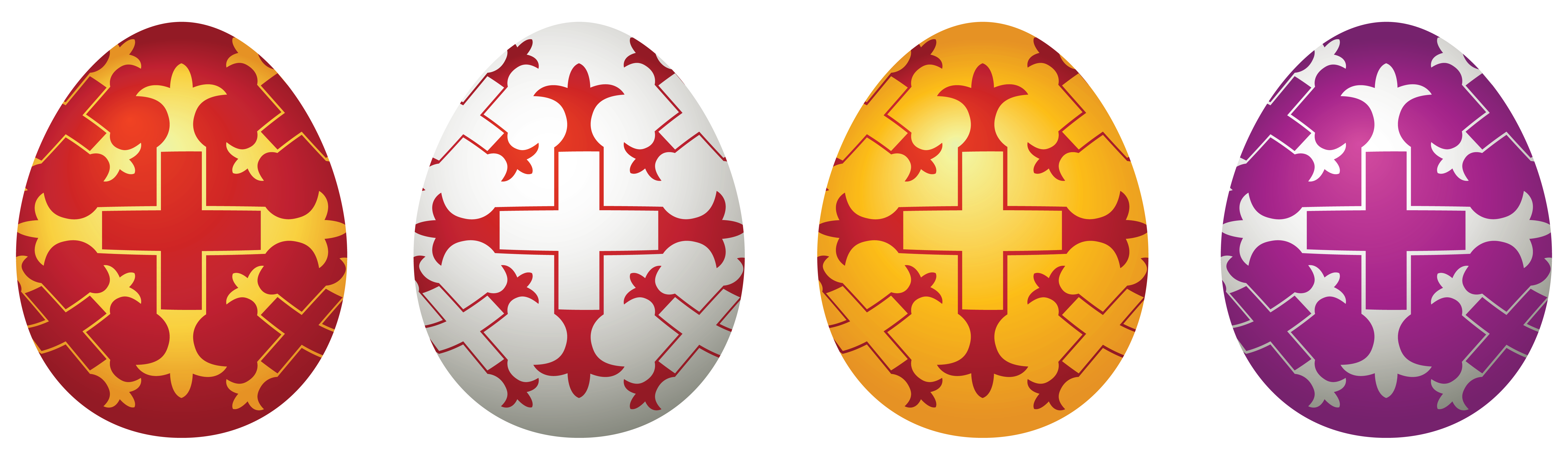 Clipart easter symbol. Eggs set png picture