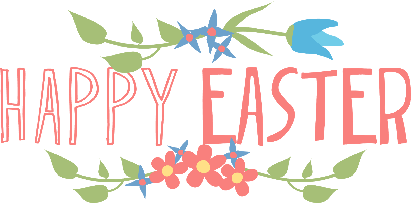 clipart easter text