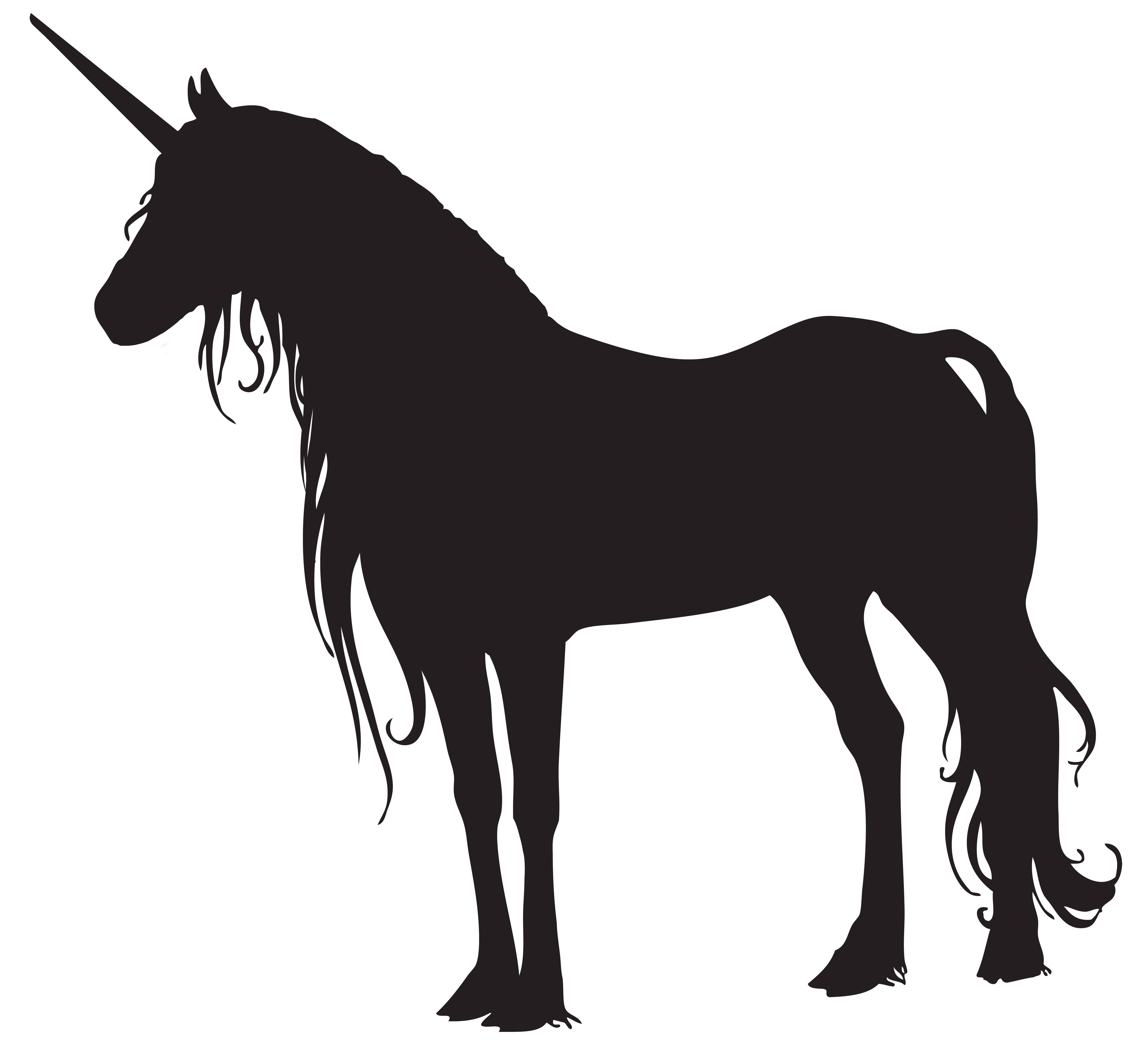 Clipart unicorn high resolution. Silhouette png clip art