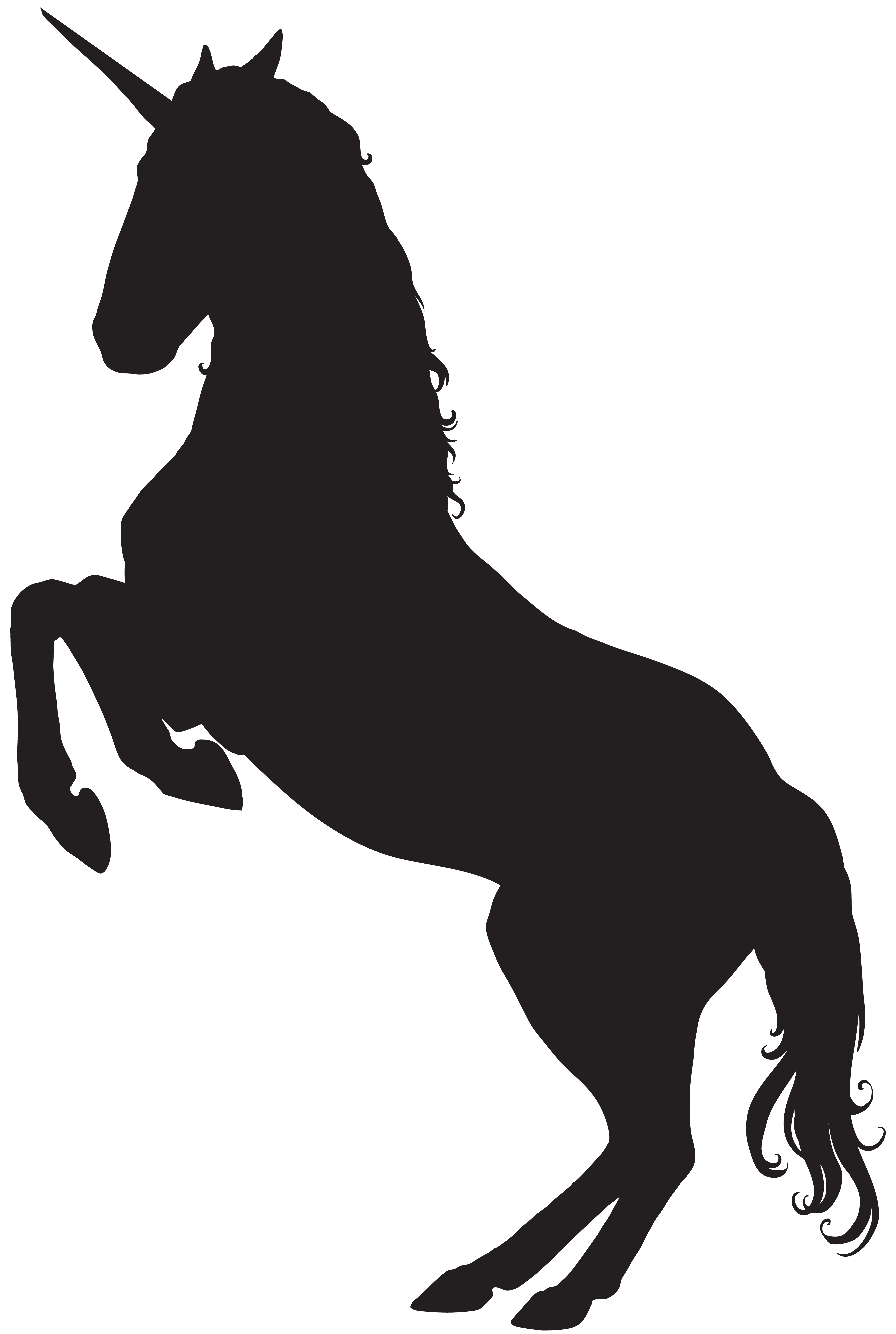 Silhouette png clip art. Clipart unicorn high resolution