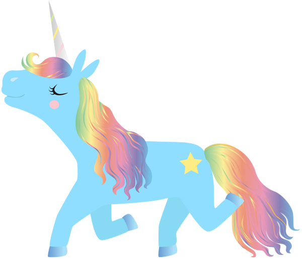 Clipart unicorn pony. Rainbow transparent clip art