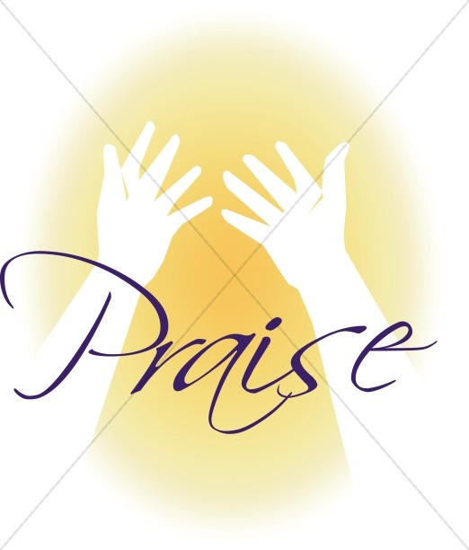 Praise and hands . Clipart easter worship