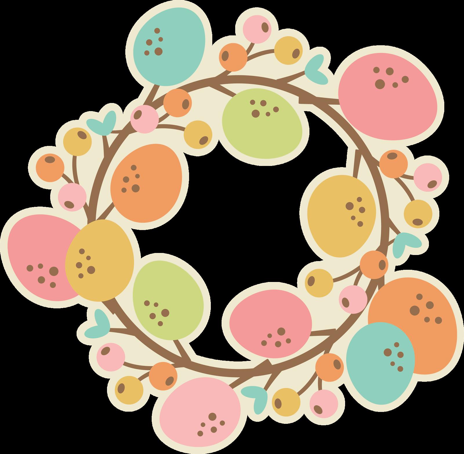clipart easter wreath