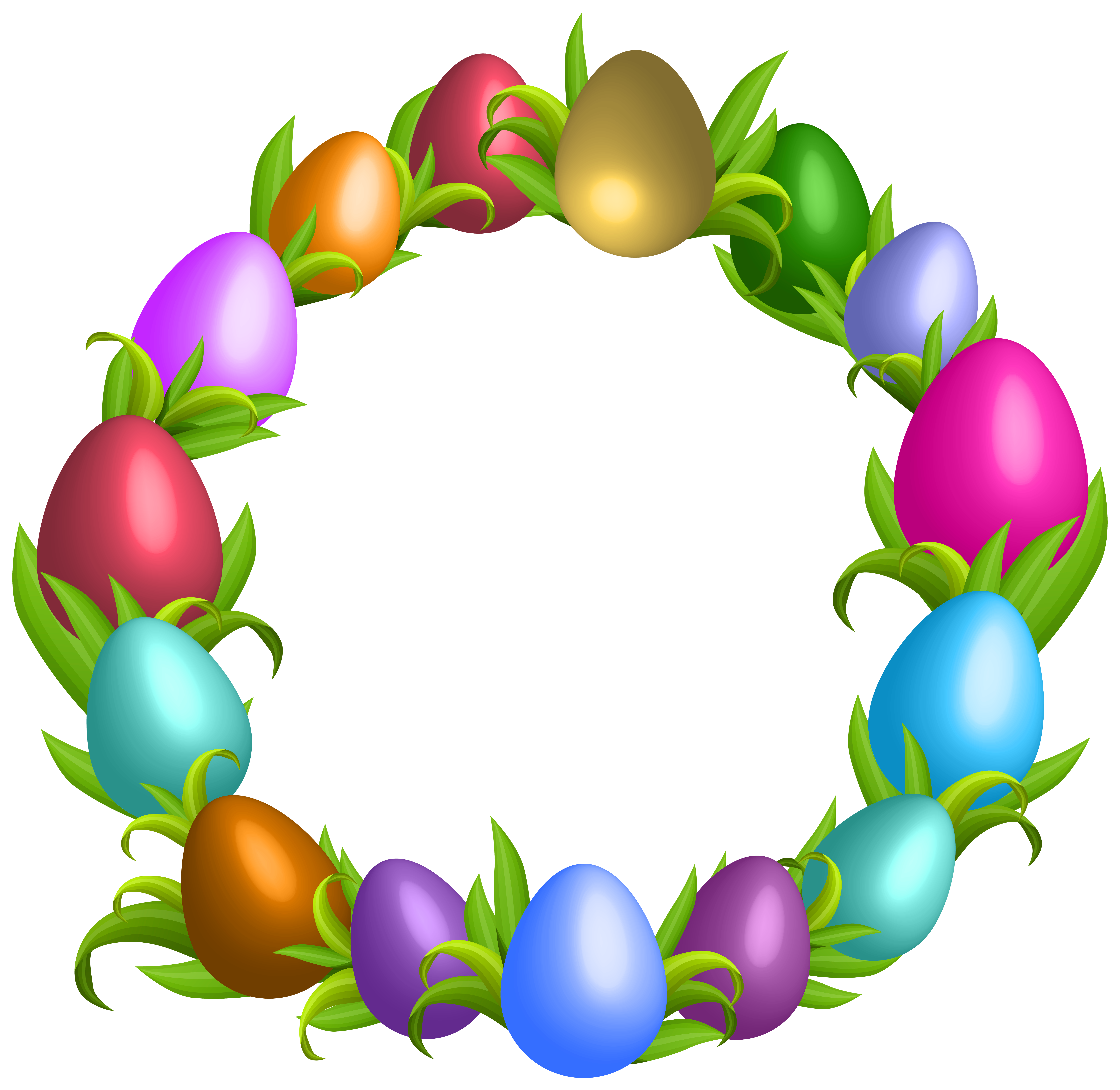 Clipart fruit wreath. Easter transparent png clip