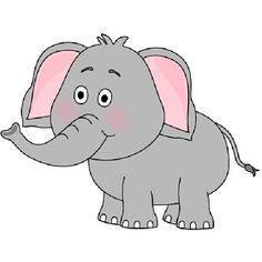Elephants clipart. Cute baby elephant clip