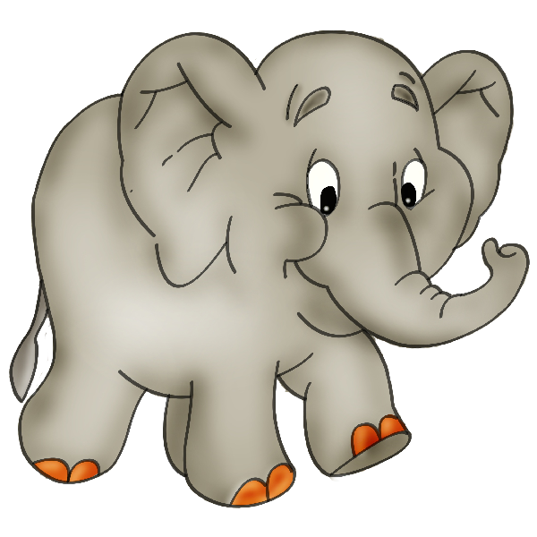 Monkey clipart elephant. Cartoon clip art baby