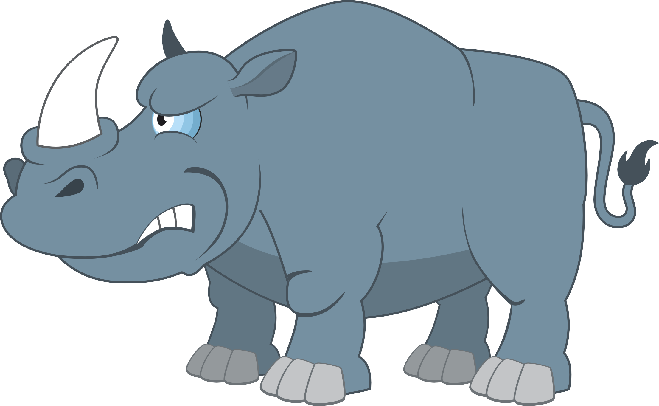 Rhinoceros cartoon illustration rhino. Indians clipart angry