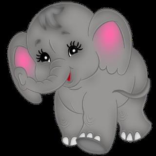 Clipart elephant baby animal. S cute cartoon clip