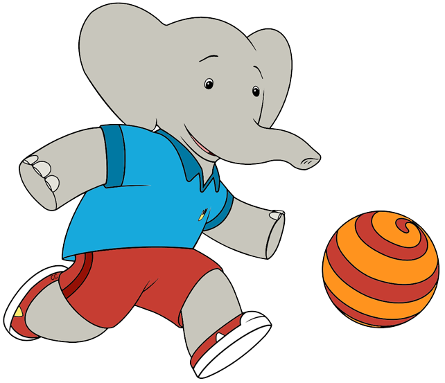 Babar and the adventures. Clipart elephant ball