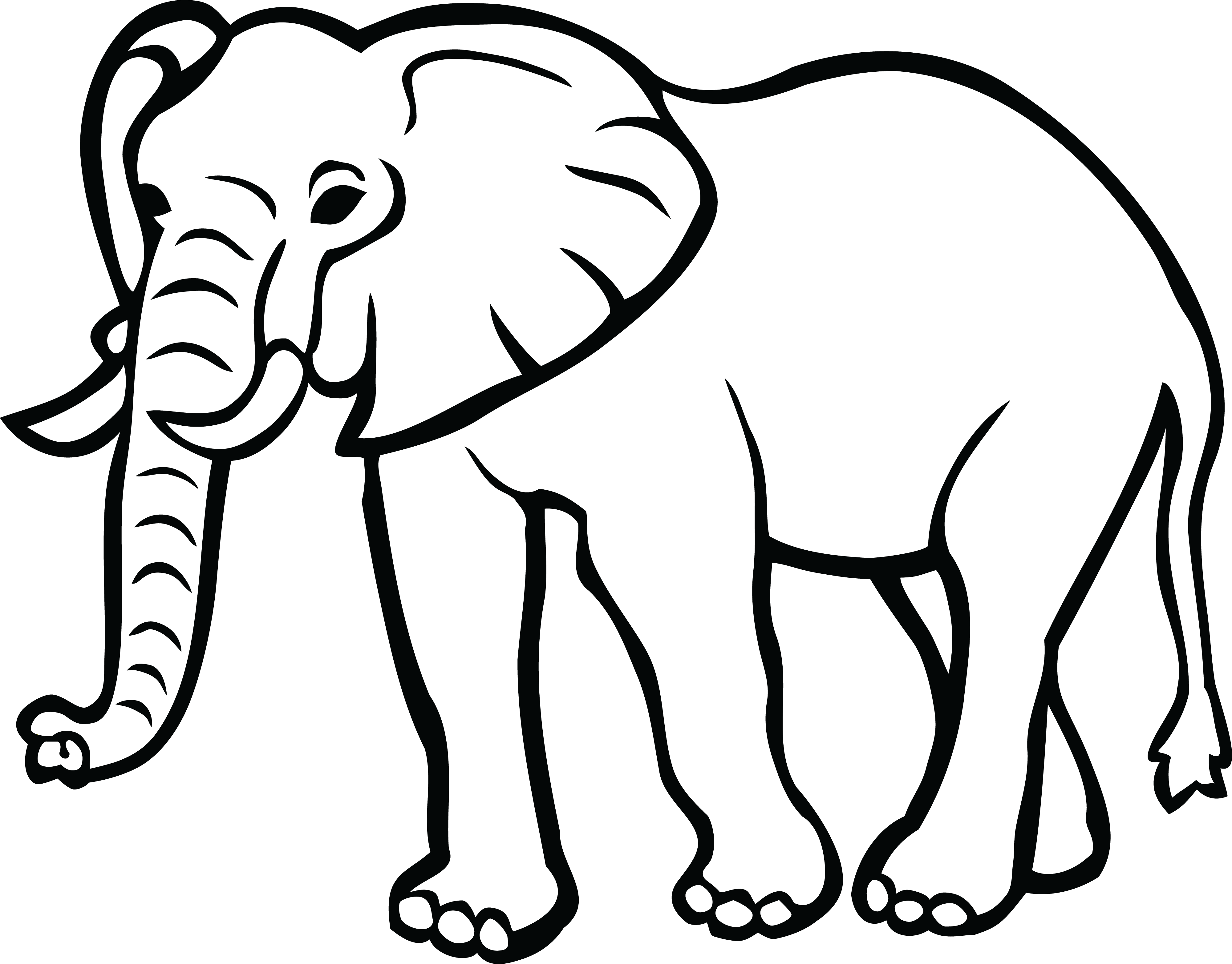 collection of black. Hearts clipart elephant