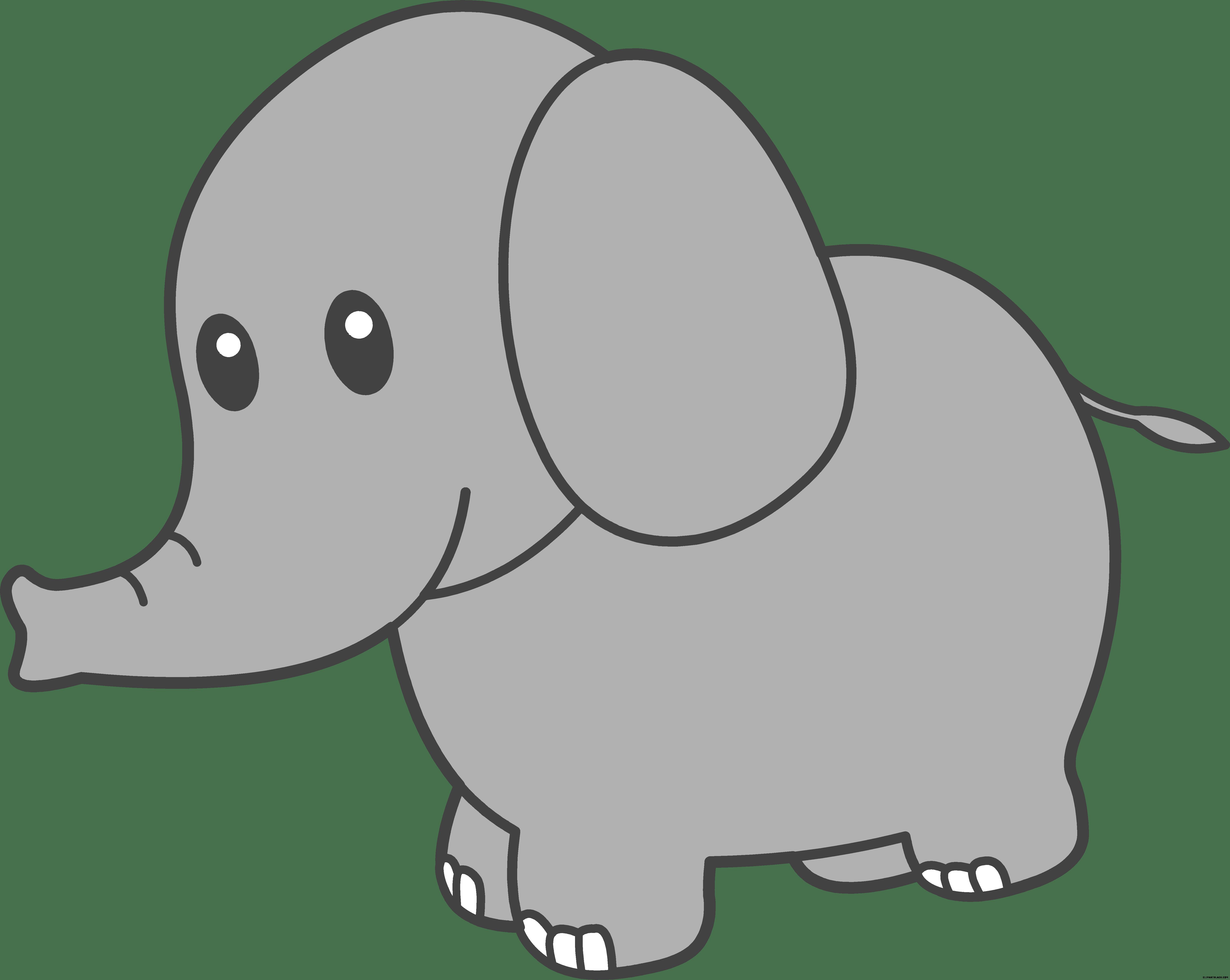 Clipart elephant black and white. Cute clipartblack com animal