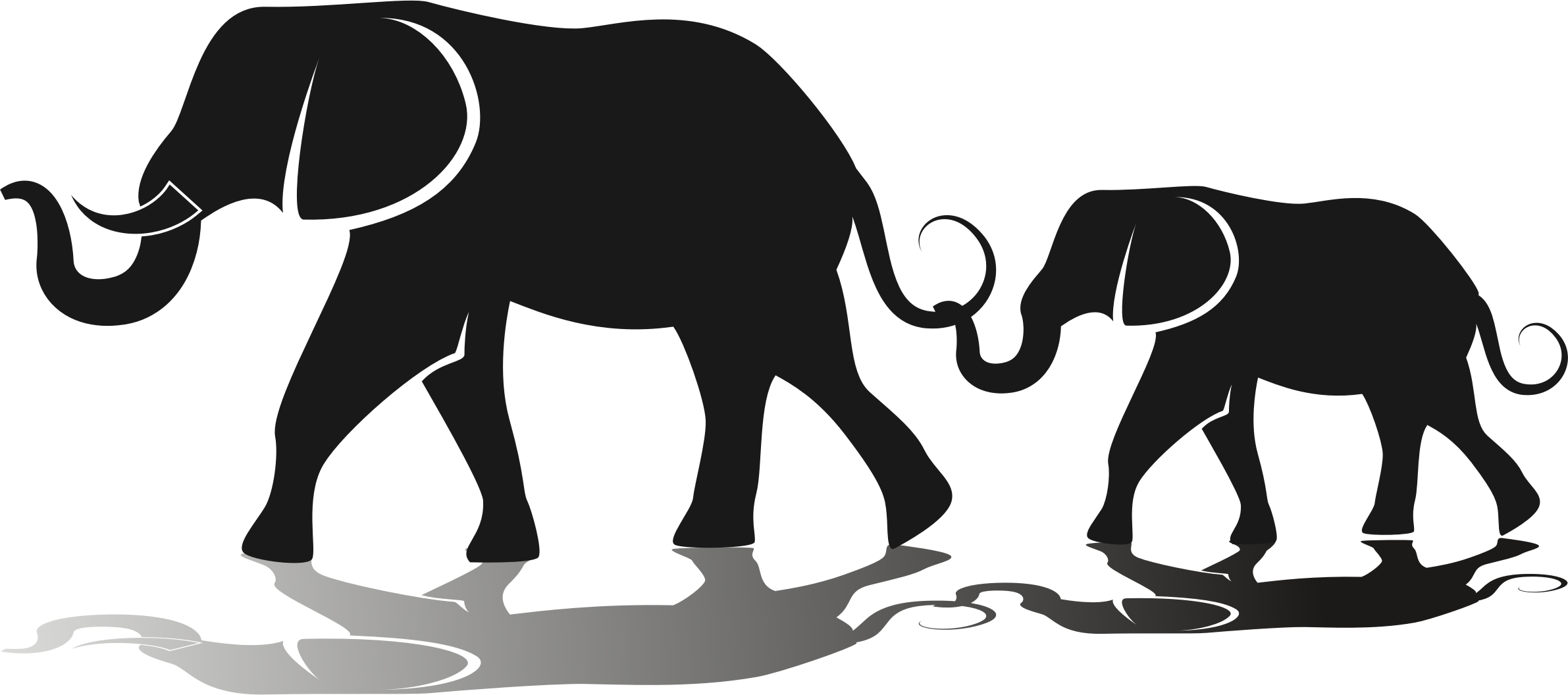 Families clipart african american. Silhouette elephant clip art