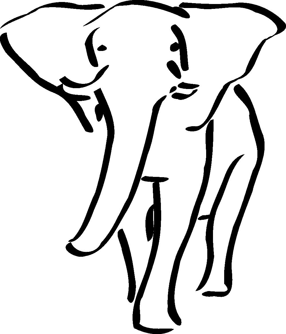 Hippo clipart hippo outline. Elephant clip art black