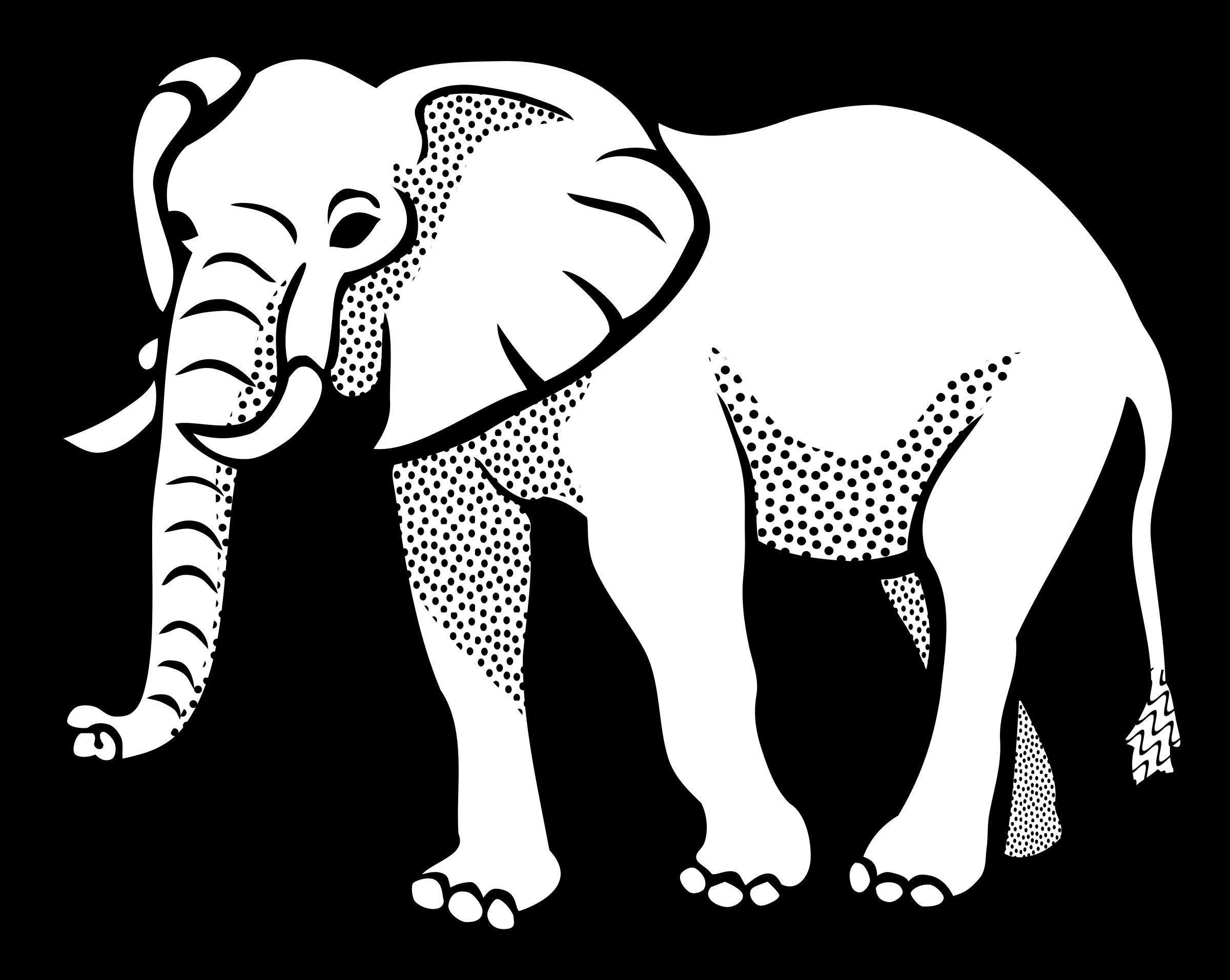 Lineart big image png. Doctors clipart elephant