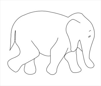 Free outline download clip. Clipart elephant body