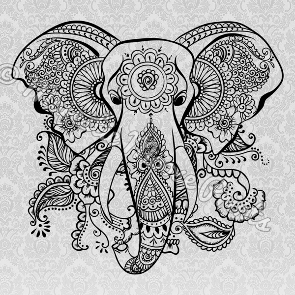 Mandala clipart elephant. Tribal svg tatoos pinterest
