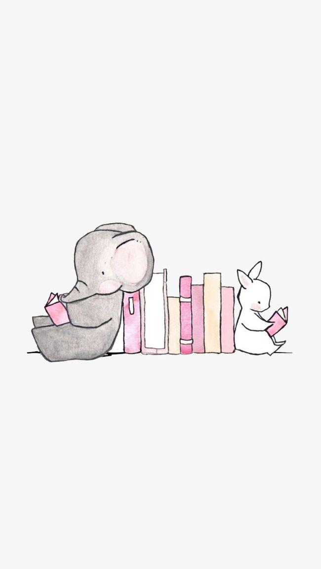 Clipart elephant bunny. Fresh and lovely cartoon