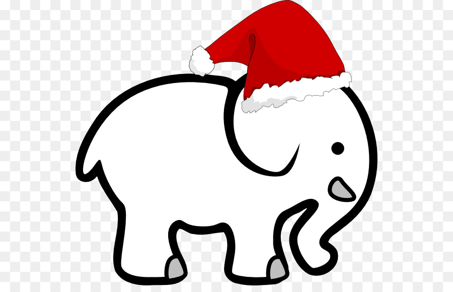 Clipart elephant christmas. Black and white gift