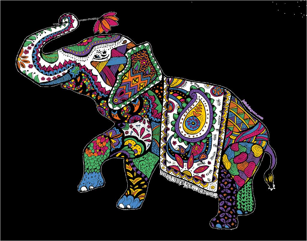 Indian crazywidow info. Clipart elephant designer