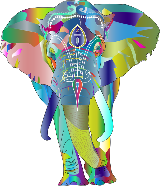 Balloon elephants and mammoths. Clipart elephant designer