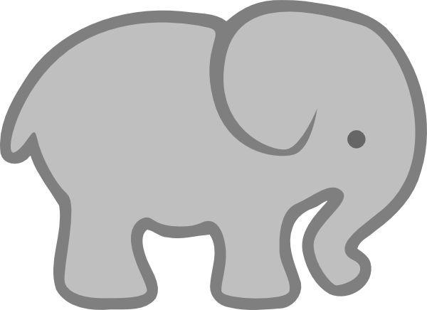 clipart elephant easy