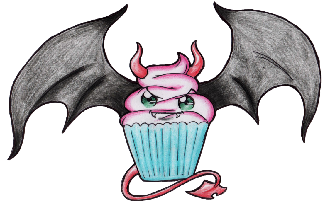 collection of evil. Cupcake clipart character