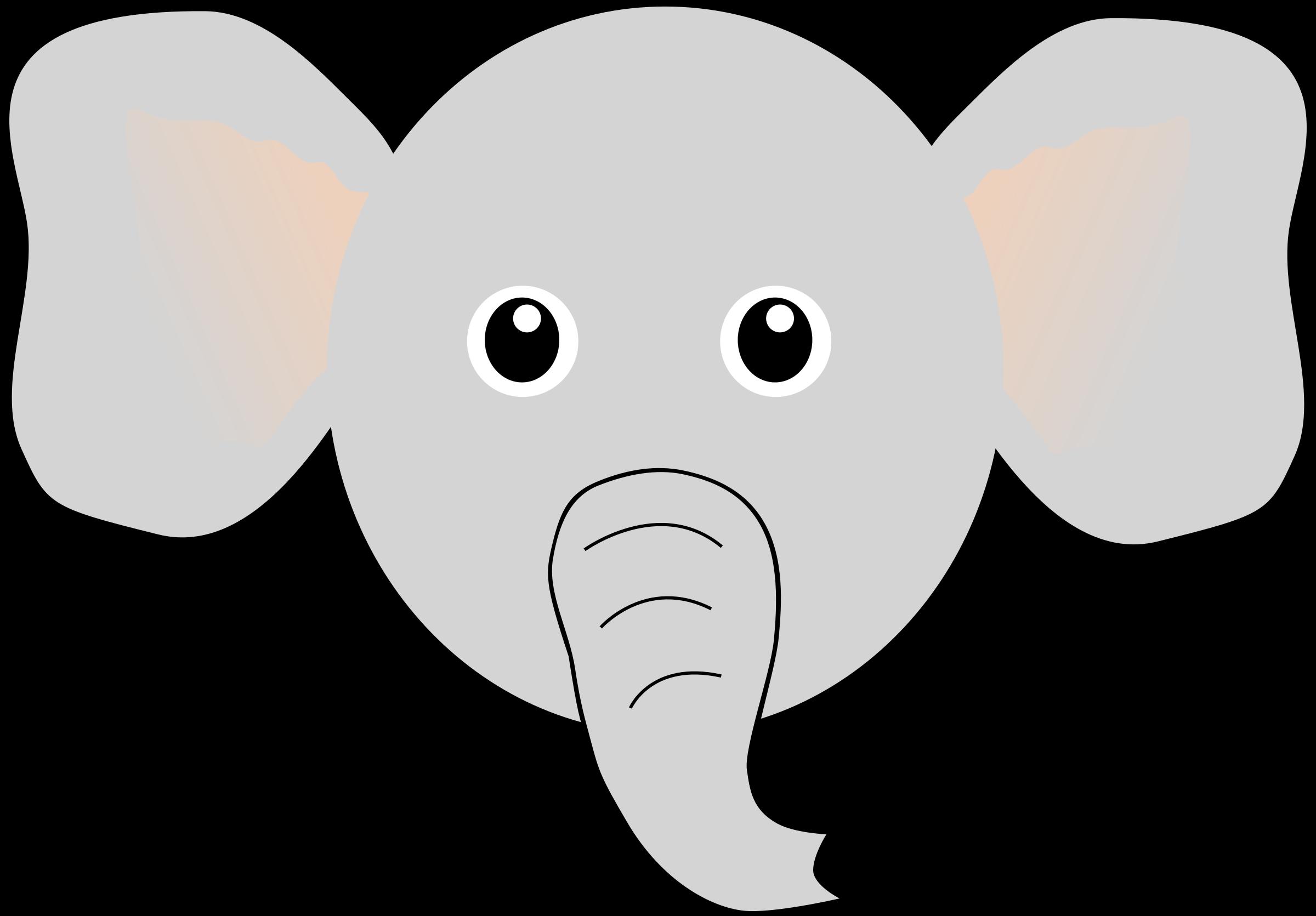 Clipart elephant face. Funny cartoon big image