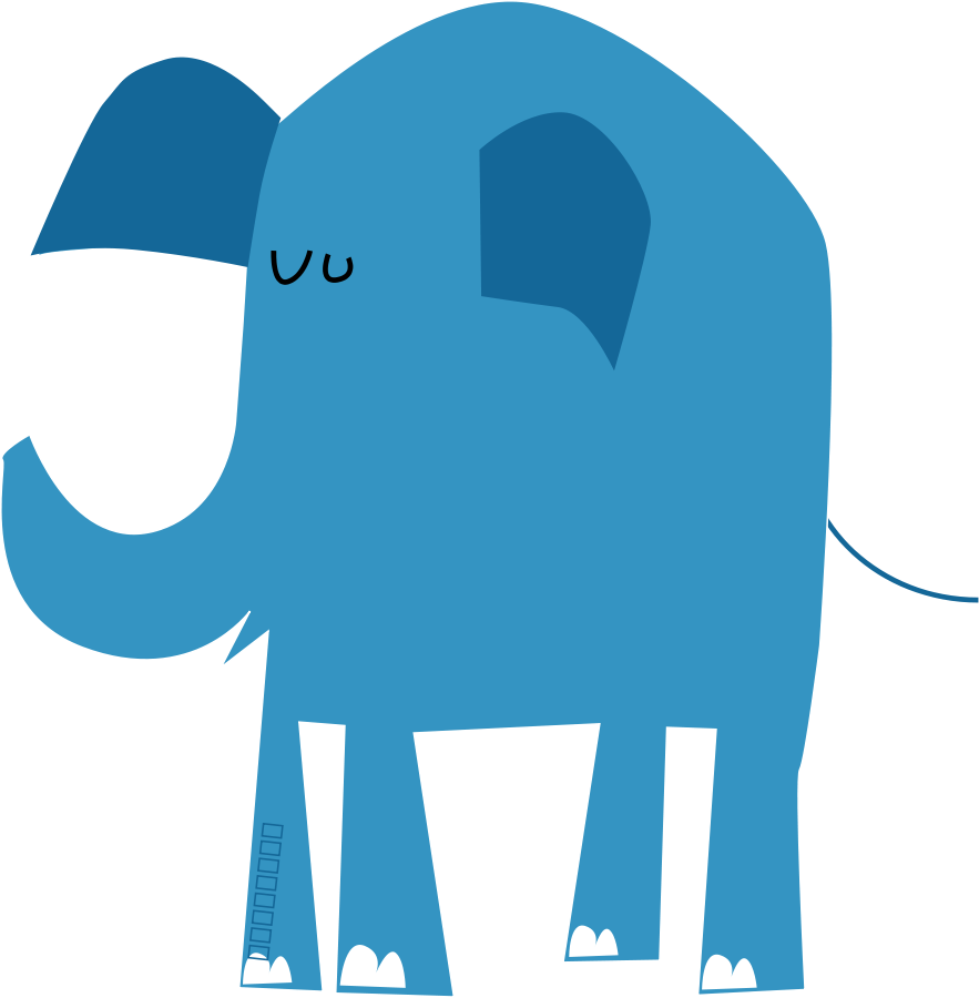 Elephant family . Families clipart blue