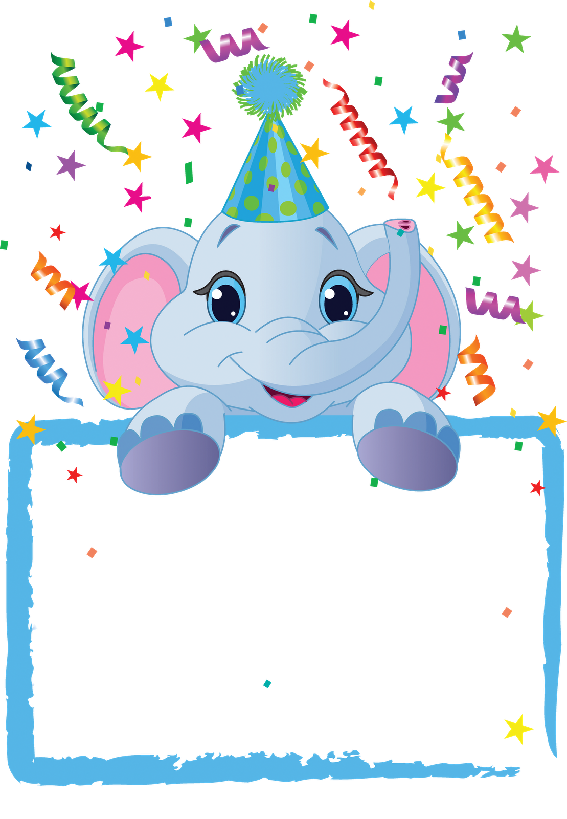 Clipart frame celebration. Birthday png marcos gratis